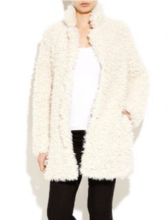 Ladies Shaggy Fur Coat